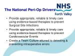 the national peri op drivers
