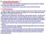 7 animal husbandry