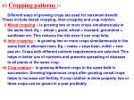 c cropping patterns