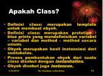 apakah class
