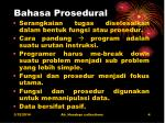 bahasa prosedural