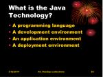 what is the java technology