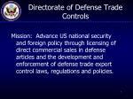 directorate of defense trade controls