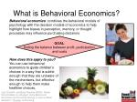 what is behavioral economics