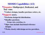 mosis capabilities 1 2
