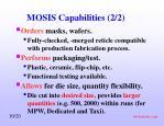 mosis capabilities 2 2