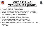 cwde firing techniques cont