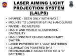 laser aiming light projection system lalps