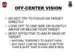 off center vision