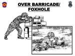 over barricade foxhole