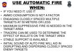 use automatic fire when