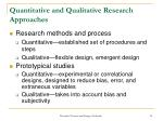 quantitative and qualitative research approaches14