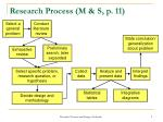 research process m s p 11