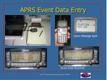aprs event data entry30