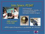 into space pcsat