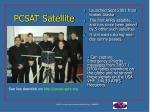 pcsat satellite