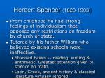 herbert spencer 1820 1903