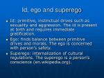 id ego and superego