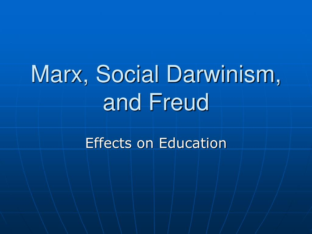 marx social darwinism and freud l.