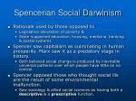 spencerian social darwinism