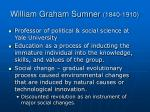 william graham sumner 1840 1910