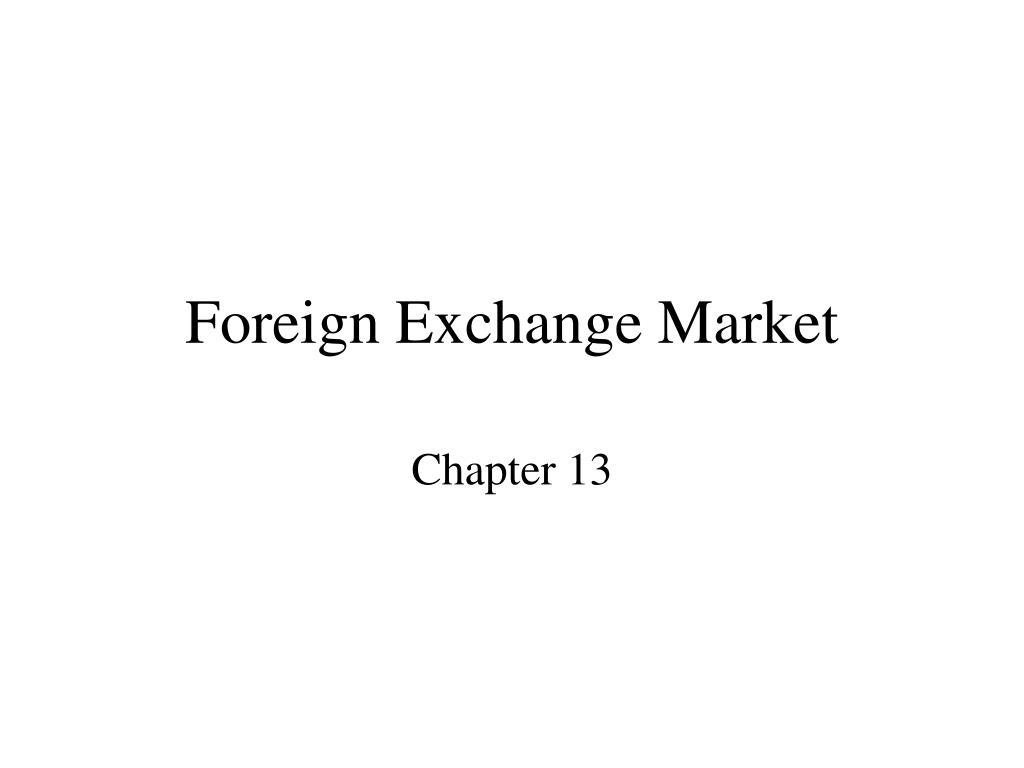 foreign exchange market l.