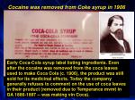 cocaine removed