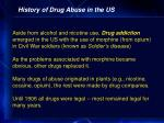 history of drug abuse in the us