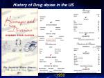 history of drug abuse in the us30