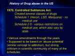 history of drug abuse in the us33