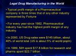 legal drug manufacturing in the world