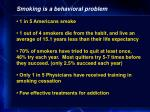 smoking is a behavioral problem
