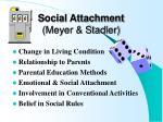 social attachment meyer stadler