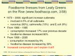 foodborne ilnesses from leafy greens on the rise www foodhaccp com 3 08