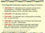 fruit vegetable outbreaks agents and origin of produce6