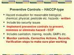 preventive controls haccp type