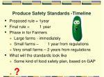 produce safety standards timeline