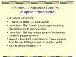 updates salmonella saint paul jalapeno peppers 2008