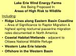 lake erie wind energy farms are being proposed in areas of high risk to wildlife