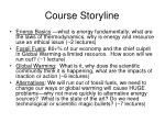 course storyline