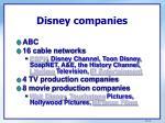 disney companies