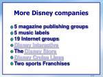 more disney companies