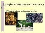 examples of research and outreach
