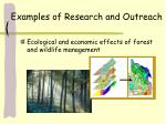 examples of research and outreach25