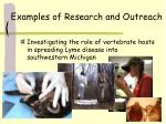 examples of research and outreach26