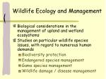 wildlife ecology and management2