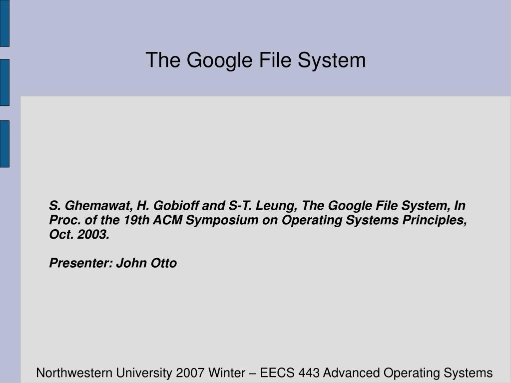the google file system l.