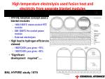 high temperature electrolysis used fusion heat and electricity from separate blanket modules