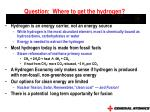 question where to get the hydrogen