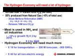 the hydrogen economy will need a lot of hydrogen